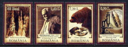 ROMANIA 2007 Biospeleology  Set Of 4 MNH / **.  Michel Block 6158-61 - 1948-.... Republics