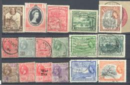 4Zw-438: Restje Van 17 Zegels:  BRITISH GUIANA..... Om Verder Uit Te Zoeken.... - Guyana Britannica (...-1966)