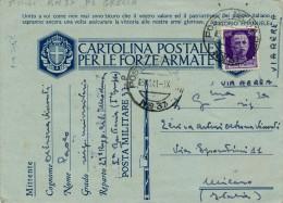 GRECIA 29´ REG. ART. MODENA POSTA MILITARE NR. 37 1941 - 1900-44 Vittorio Emanuele III