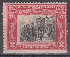 United States  Scott No.  651   Unused Hinged   Year  1929 - United States
