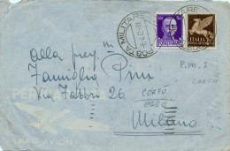 CORFU´ EGEO COVER \ BUSTA POSTA MILITARE NR 2 1942 - 1900-44 Vittorio Emanuele III
