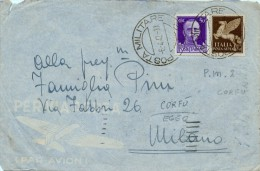 CORFU´ EGEO COVER \ BUSTA POSTA MILITARE NR 2 1942 - 1900-44 Victor Emmanuel III