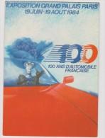 Voiture :  Exposition  Grand  Palais  Paris , 100  Ans   D  Automobile  Française - Postcards