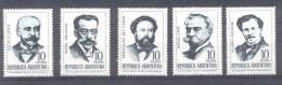 ESCRITORES ARGENTINOS SERIE COMPLETA AÑO 1966 MIGUEL CANE ESTANISLAO DEL CAMPO HILARIO ASCASUBI RAFAEL OBLIGADO