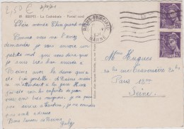 Marne :  REIMS  : La  Cathédrale  (  Voiture  Traction ) - Reims