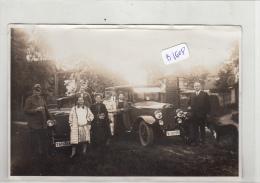 AC - B1608 - Allemagne ( à Localiser) Vieille Photo  'd'automobiles Format CPA - Cars