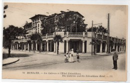 Tarjeta Postal Hendaye, Les Galeries Et L'hotel Eskualduna. - Hendaye