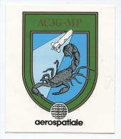 """Sticker Autocollant """"Aérospatiale -  AC3G-MP"""" Missile Antichar - Matra - CNES - ESA - Rocket - Fusée - Autocollants"""