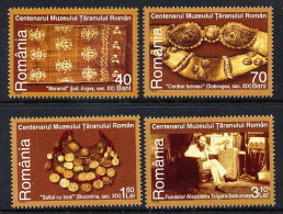 ROMANIA 2006 Centenary Of Rural Museum  Set Of 4 MNH / **.  Michel 6129-32 - 1948-.... Republics
