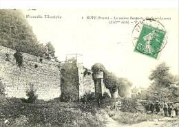 Roye. Les Anciens Remparts Saint Laurent à Roye. - Roye