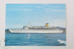 T/N EUGENIO C. Shipp Postcard - 30.500 Tonn - Barche