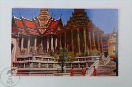 Thailand Postcard - Inside The Temple Of The Emerald Bnddha, Bangkok - Tailandia