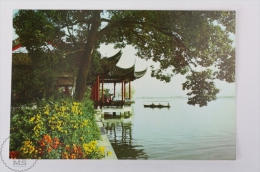 China Postcard - The West Lake, Pavilion Of The Calm Lake And Autumn Moon - China