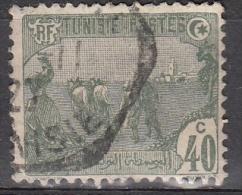 Tunisia, 1906/26 - 40c Plowing - Nr.44 Usato° - Tunisia (1956-...)