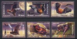 ROMANIA 2006  Bats Set Of 6 MNH / **.  Michel 6105-10 - 1948-.... Republics