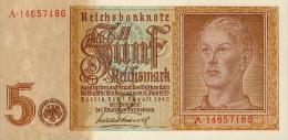 Deutschland, Germany - 5 Reichsmark, ( H.J. Hitlerjunge ) Ro. 179 B , 1942 - 1948 ! - 1933-1945: Drittes Reich
