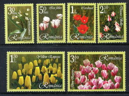 ROMANIA 2006 Tulips Set Of 6  MNH / **.  Michel 6055-60 - 1948-.... Republics