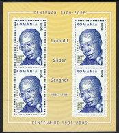 ROMANIA 2006 Senghor Centenary Block  MNH / **.  Michel Block 372 - 1948-.... Republics