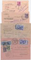 1952 – 1970 AVVISI DI RICEVIMENTO 4 DIFFERENTI AFFRANCATI CON LAVORO E SIRACUSANA ISOLATI UNO ANCHE CON MARCHE DA BOLLO - 1946-.. République