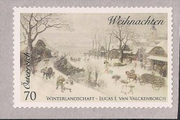 2014 Austria Mi. 3173 **MNH .Weihnachten NOEL  Rollenmarke Selbstklebend - 2011-... Nuevos & Fijasellos