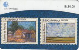 PANAMA(chip) - Stamps 5/Painters Of Panama, Used - Panama
