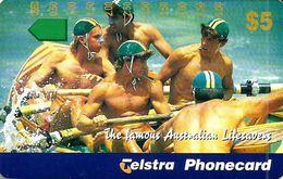 AUSTRALIA $5 LIFESAVERS BOAT SOLD ONLY IN TOURIST SHOPS TAMURA MINT AUS-379 READ DESCRIPTION !! - Australia