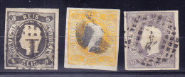 Portugal 1866 Mi.# 17, 18, 23 Gestempelt - Kat. Mi 353 € - Marke 10R Links Relief Durchbrochen - - 1862-1884 : D.Luiz I