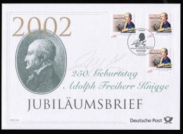 DE 2002 250 GEBURSTAG A. F. KNIGGE - BRD