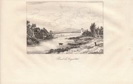 1835 - Gravure Sur Cuivre - Argentat (Corrèze) Le Pont - FRANCO DE PORT - Estampes & Gravures