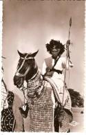 CPSM . TCHAD  - Cavalier Foulb� du Sultan de Binder -