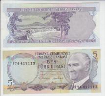 Turkey 5 Liras 1970 Pick 185 UNC - Turchia