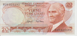 Turkey 20 Liras 1970 Pick 187a UNC - Turchia