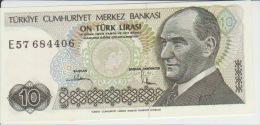 Turkey 10 Liras 1970(79) Pick 192 AUNC - Turchia