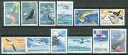 114 AUSTRALIE ANTARCTIQUE 1973 - Manchot Cachalot Albatros Avion (Polaire) - (Yvert 23/34) Neuf ** (MNH) Sans Charniere - Territorio Antártico Australiano (AAT)
