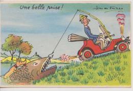 ILLUSTRATEUR JEAN EN FRINCO?-humoristique Peche-UNE BELLE PRISE !- - Andere Illustrators