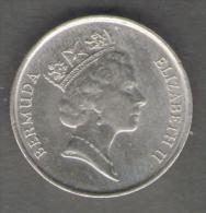 BERMUDA 5 CENTS 1988 - Bermuda