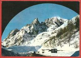 CARTOLINA VG ITALIA - COURMAYEUR (AO) - Nuova Strada Per Il Traforo - Aig. Noire - Monte Bianco - 10 X 15 - ANNULLO 1969 - Andere Städte