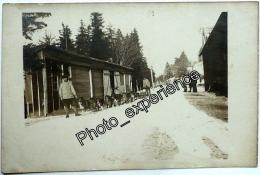 CPA Carte Photo Guerre 14-18 Militaire Chien Traineau Dog WW1 VOSGES Alsace - Oorlog 1914-18
