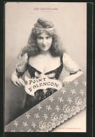 AK Madame Boucot Geklöppelte Spitze Aus Point D'Alencon - Cartoline