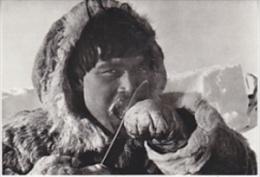 Canada Eskimo Eating Frozen Fish Postcard Unused (20008E) - Canada