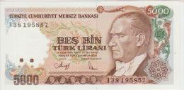 Turkey 5000 Liras 1970(90) Pick 198 UNC - Turchia