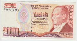 Turkey 20000 Liras 1970(95) Pick 202 UNC - Turquie