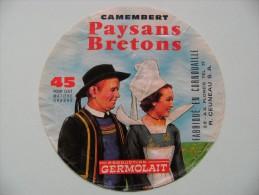 Etiquette Camembert - Paysans Bretons - Laiterie R.Ceuneau 29-AA à Ploneis - Finistère  A Voir ! - Fromage