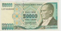 Turkey 50000 Liras 1970(95) Pick 204 UNC - Turchia