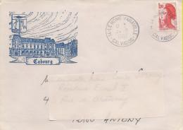 14 - Tampon De LE HOME VARAVILLE Sur Enveloppe Illustrée Cabourg - 1961-....