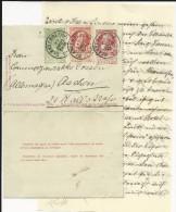 BELGIQUE - 1905 - CARTE-LETTRE ENTIER De BLANKENBERGHE Pour AACHEN - Entiers Postaux