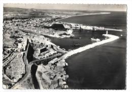 CPSM  Sète  (Hérault 34): Vue Aérienne Entrée Du Port Et Bassin Aux Pétroles - Sete (Cette)