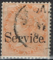Inde Anglaise - 1866 - Y&T Service N° 5, Oblitéré - 1858-79 Compagnie Des Indes & Gouvernement De La Reine