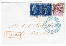GB - 1866 Brief Ohnen Inhalt Von London Nach St. Petersburg - Briefe U. Dokumente