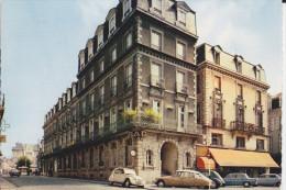 CPSM AUTO VOITURE CITROEN DS 2 CV RENAULT 8 MORLAIX HOTEL DE L EUROPE - Toerisme